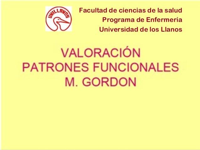 Facultad de ciencias de la salud Programa de Enfermería Universidad de los Llanos