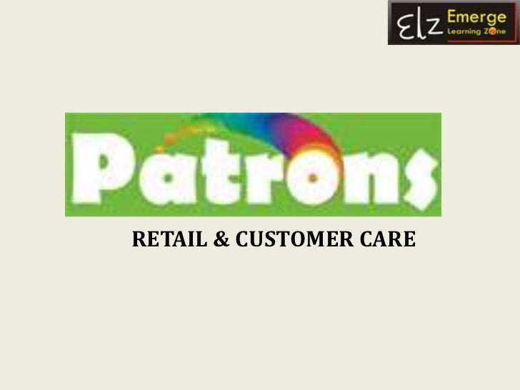 RETAIL & CUSTOMER CARE<br />