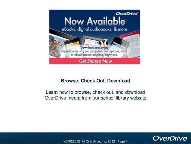 v.10012010 | © OverDrive, Inc. 2010 | Page 1v.11012010 | © OverDrive, Inc. 2010 | Page 1v.04022012 | © OverDrive, Inc. 201...