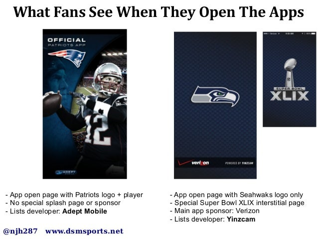 Super Bowl XLIX: Battle between the Seahawks and Patriots Mobile Apps Slide 2
