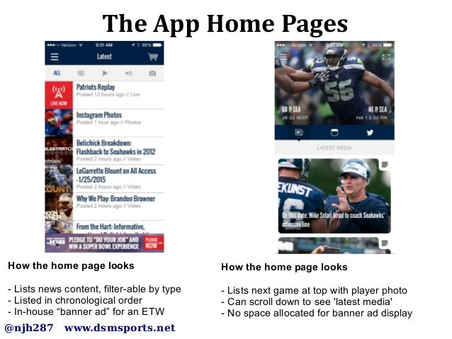 Super Bowl XLIX: Battle between the Seahawks and Patriots Mobile Apps Slide 3