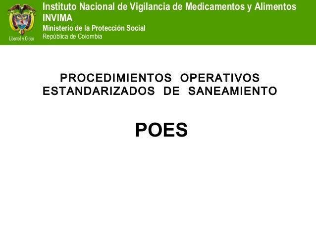 Instituto Nacional de Vigilancia de Medicamentos y AlimentosINVIMAMinisterio de la Protección SocialRepública de Colombia ...