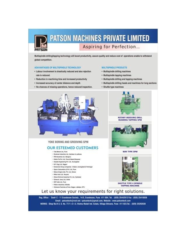 Patson Machines Private Limitead, Pune, durable boring machine Slide 2
