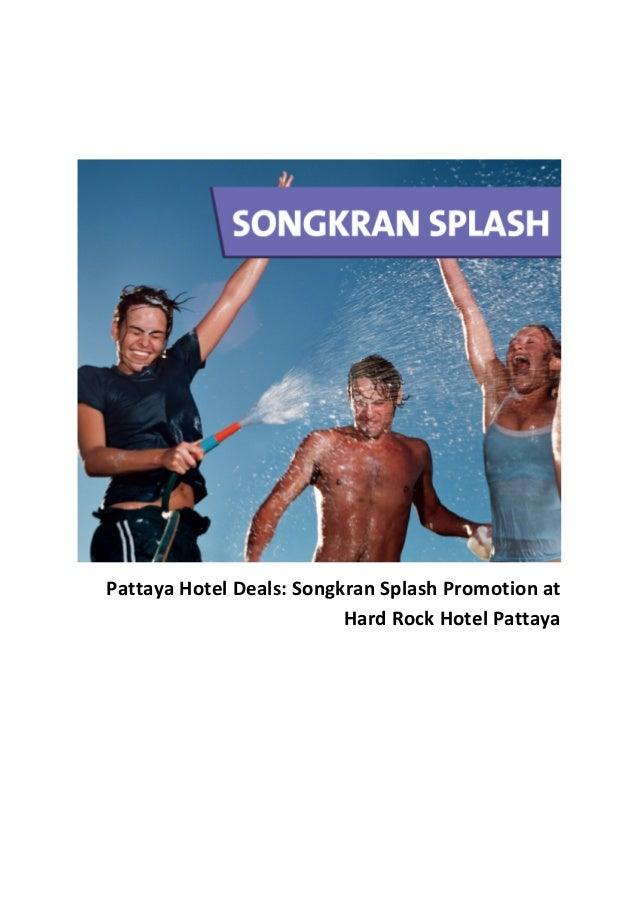 Pattaya Hotel Deals: Songkran Splash Promotion at Hard Rock Hotel Pattaya