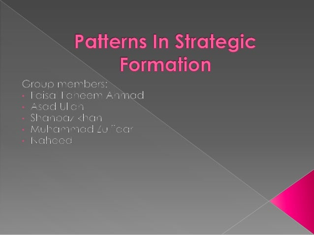 patterns in strategy formation essay Figure 55: a phase pattern of the strategy formation process in s m e s 284   assists in explaining how different patterns in strategy formation may arise in  small  roos, j and slocum, k (1994), 'an essay on corporate epistemology'.