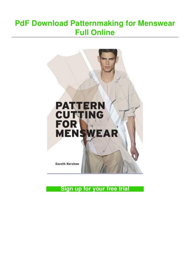PdF Download Patternmaking for Menswear Full Online Sign up for your free trial