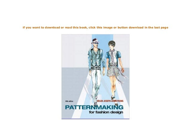 Hardcover Patternmaking For Fashion Design 5th Edition 5th Edition