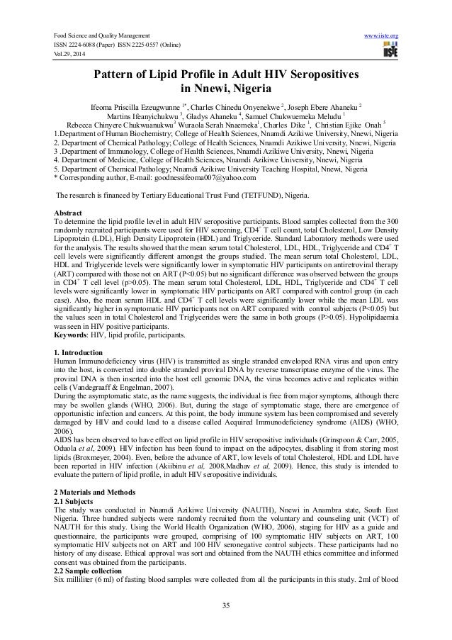 Food Science and Quality Management www.iiste.org ISSN 2224-6088 (Paper) ISSN 2225-0557 (Online) Vol.29, 2014 35 Pattern o...