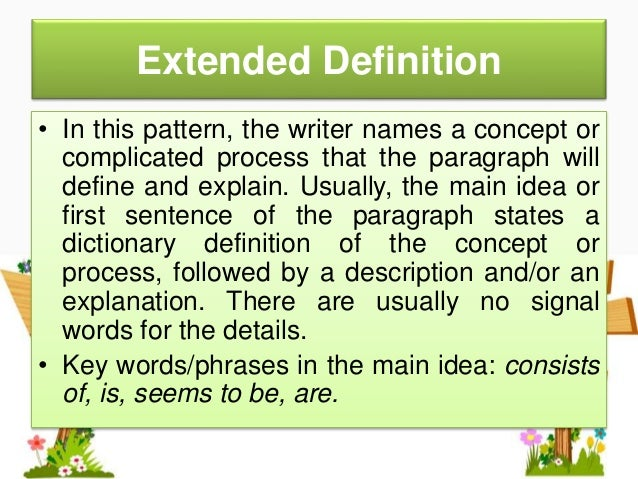 extended definition words
