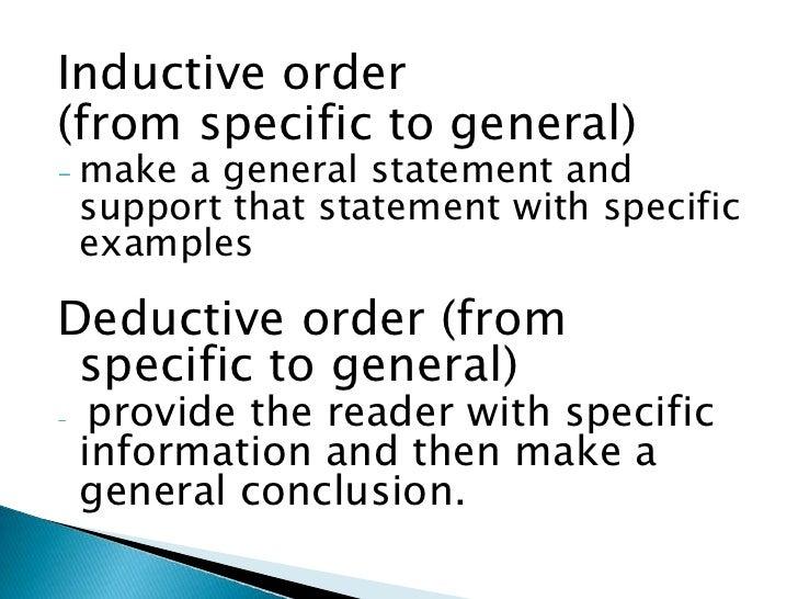 deductive paragraph example