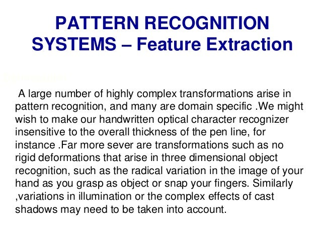 pattern recognition and classification theory Classification techniques used in speech recognition applications: a review maanusuya 1, skkatti 2 department of computer science and engineering.