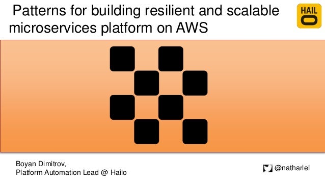 Patterns for building resilient and scalable microservices platform on AWS Boyan Dimitrov, Platform Automation Lead @ Hail...
