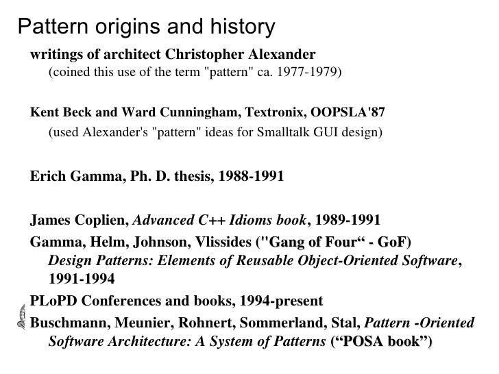 erich gamma dissertation Quieres información sobre los libros de gamma erich te damos información detallada de sus obras y te decimos donde comprarlas.