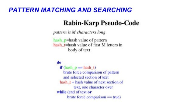 Pattern searching