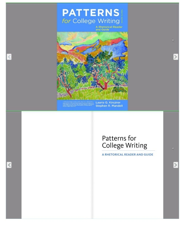 Patterns For College Writing Part 40 Simple Patterns For College Writing 13th Edition