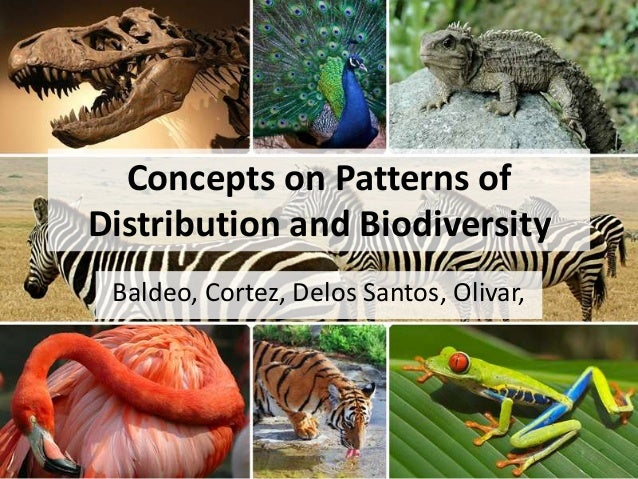 Concepts on Patterns ofDistribution and BiodiversityBaldeo, Cortez, Delos Santos, Olivar,