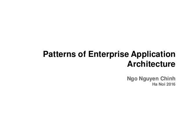 Patterns Of Enterprise Application Architecture Awesome Patterns Of Enterprise Application Architecture