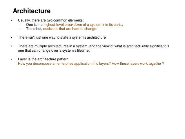 Patterns Of Enterprise Application Architecture Enchanting Patterns Of Enterprise Application Architecture