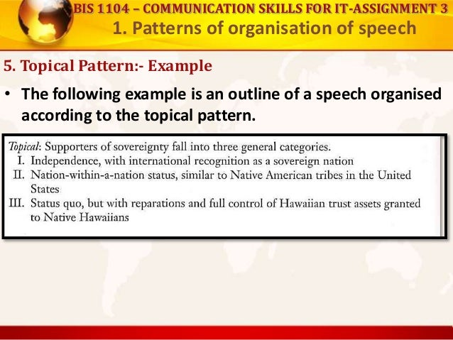 Patterns of organization of speech, and how to lead discussions and s…