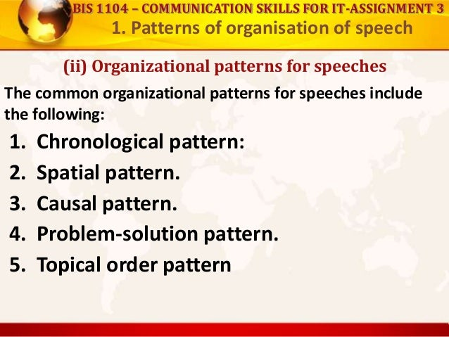 Patterns of organization of speech, and how to lead