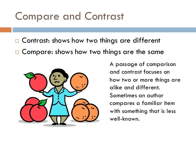 compare and contrast paper ideas