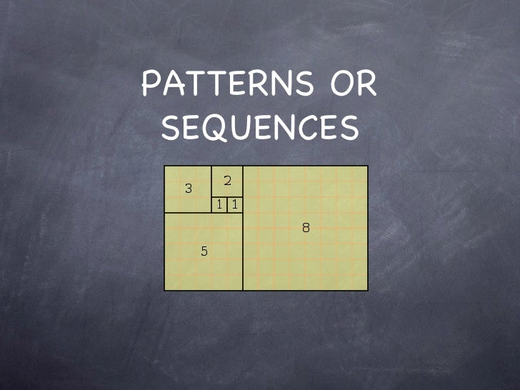 PATTERNS OR SEQUENCES