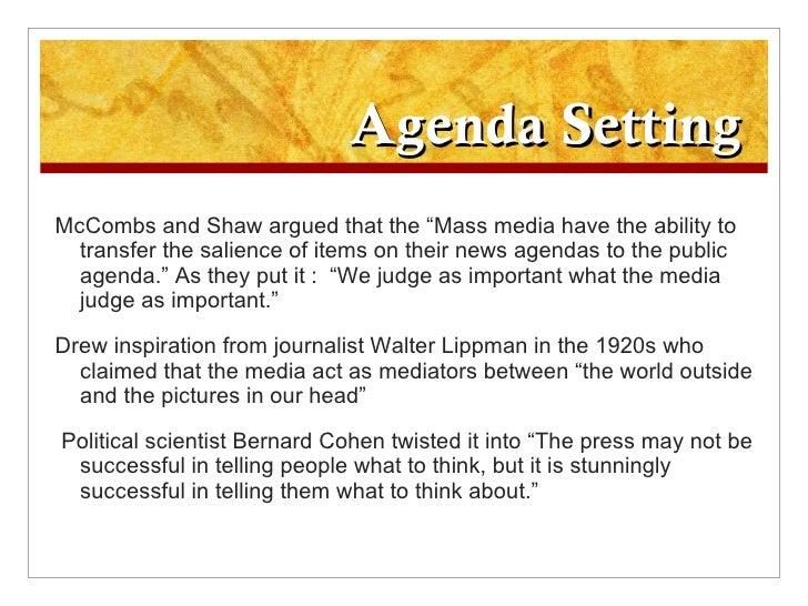 agenda setting of mass media