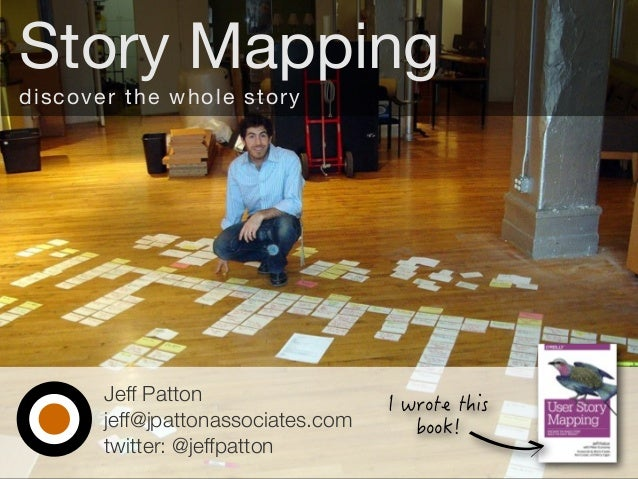 Jeff Patton jeff@jpattonassociates.com twitter: @jeffpatton Story Mapping discover the whole story