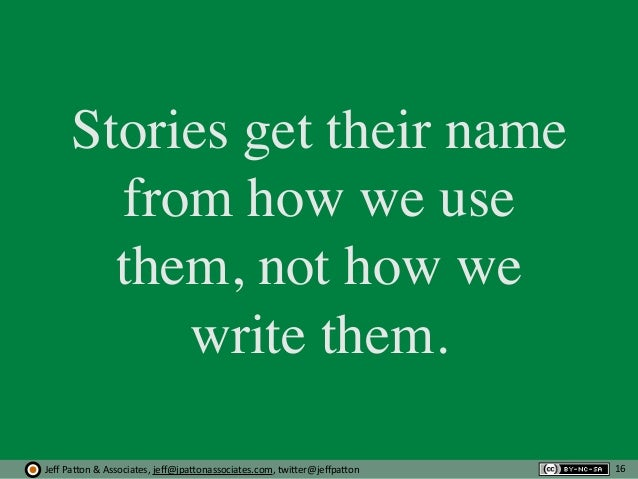 Jeff  Pa'on  &  Associates,  jeff@jpa'onassociates.com,  twi'er@jeffpa'on Stories get their name from how we use th...