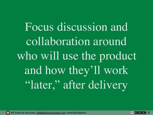 Jeff  Pa'on  &  Associates,  jeff@jpa'onassociates.com,  twi'er@jeffpa'on Focus discussion and collaboration around...