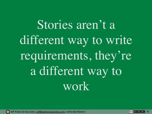 Jeff  Pa'on  &  Associates,  jeff@jpa'onassociates.com,  twi'er@jeffpa'on Stories aren't a different way to write r...