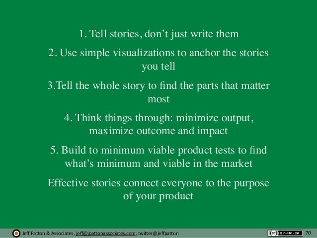 Jeff  Pa'on  &  Associates,  jeff@jpa'onassociates.com,  twi'er@jeffpa'on 1. Tell stories, don't just write them 2....
