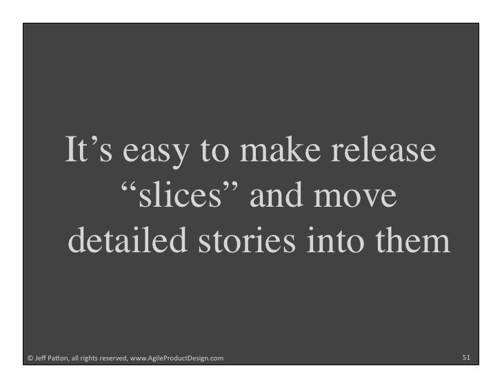 """It's easy to make release                 """"slices"""" and move            detailed stories into them  !""""#$%""""&'()*+""""',,""""-./012..."""