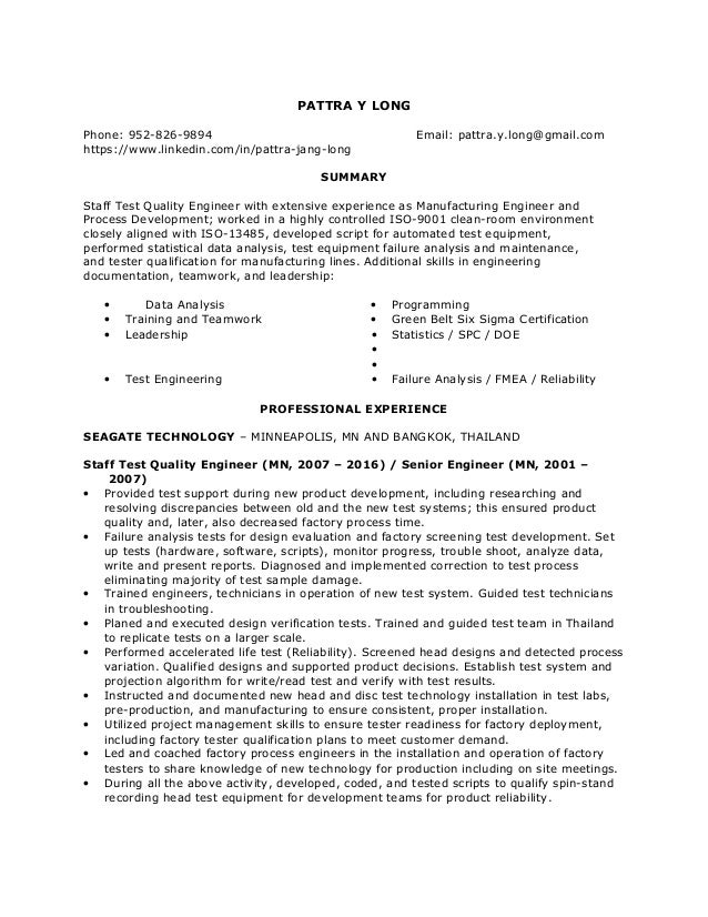 Pattra Long Resume