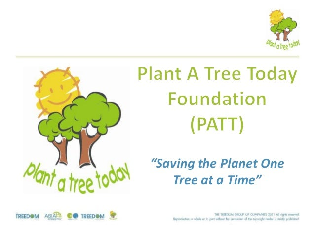 """Saving the Planet One Tree at a Time"""
