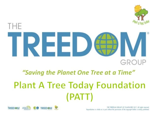 """""""Saving the Planet One Tree at a Time"""""""