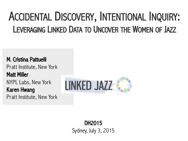 M. Cristina Pattuelli Pratt Institute, New York Matt Miller NYPL Labs, New York Karen Hwang Pratt Institute, New York ACCI...