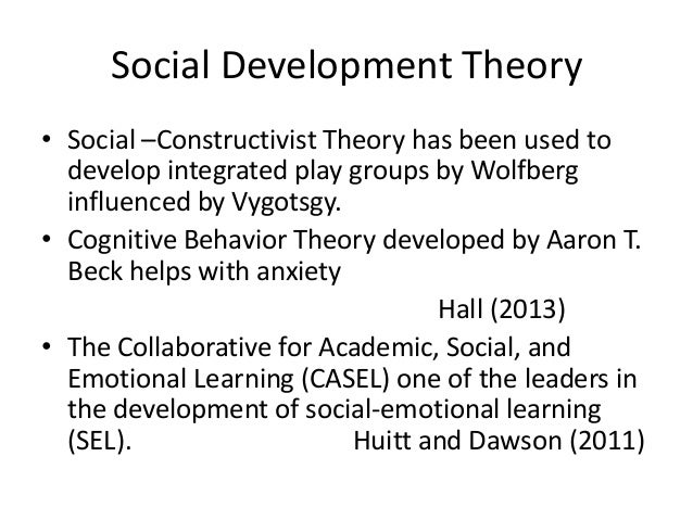 a social constructivist approach is relevant Constructivism as a paradigm or worldview posits that learning is an active, constructive process  vygotsky's social development theory is one of the .