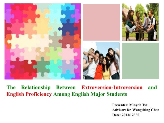 +  The Relationship Between Extroversion-Introversion English Proficiency Among English Major Students  and  Presenter: Mi...