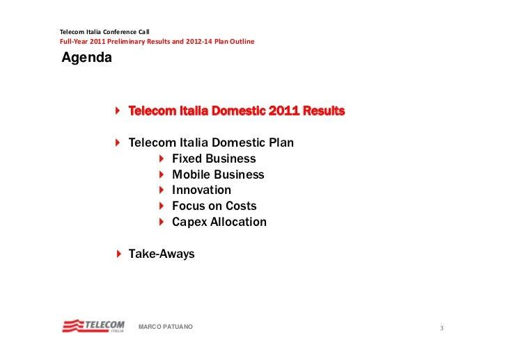 Telecom italia tutto business plan