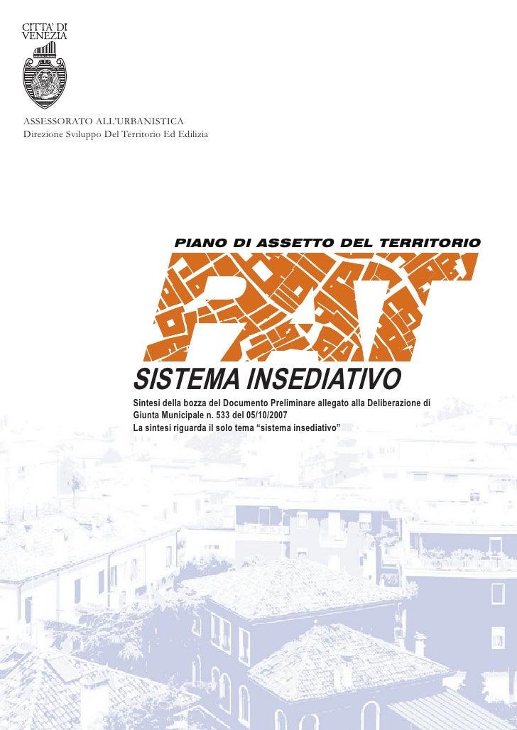 ASSESSORATO ALL'URBANISTICA Direzione Sviluppo Del Territorio Ed Edilizia                                         PIANO DI...
