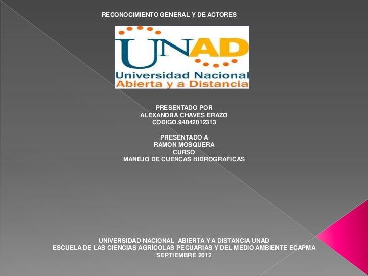 RECONOCIMIENTO GENERAL Y DE ACTORES                                PRESENTADO POR                        ALEXANDRA CHAVES ...