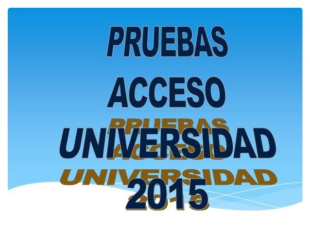 UNIVERSIDAD DE ZARAGOZA ACUERDO de 10 de diciembre de 2014, de la Comisión Organizadora de la prueba de acceso a las enseñ...