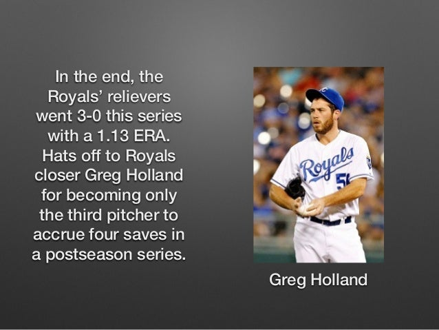 In the end, the  Royals' relievers  went 3-0 this series  with a 1.13 ERA.  Hats off to Royals  closer Greg Holland  for b...