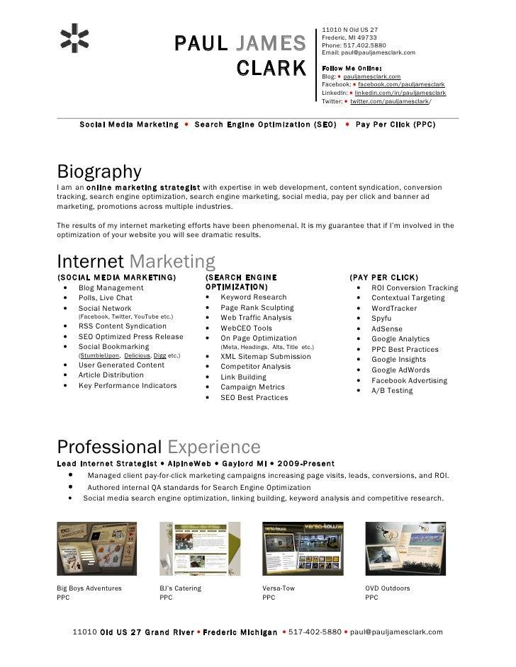Paul Clark Social Media Resume 090730181256 Phpapp01