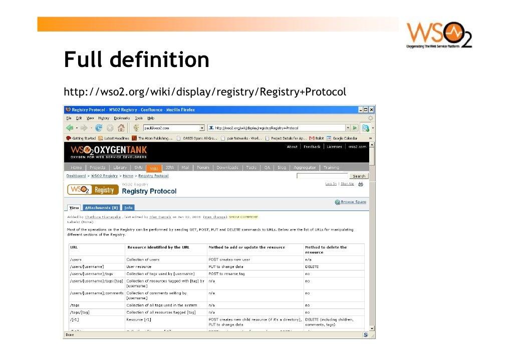 Full definition http://wso2.org/wiki/display/registry/Registry+Protocol
