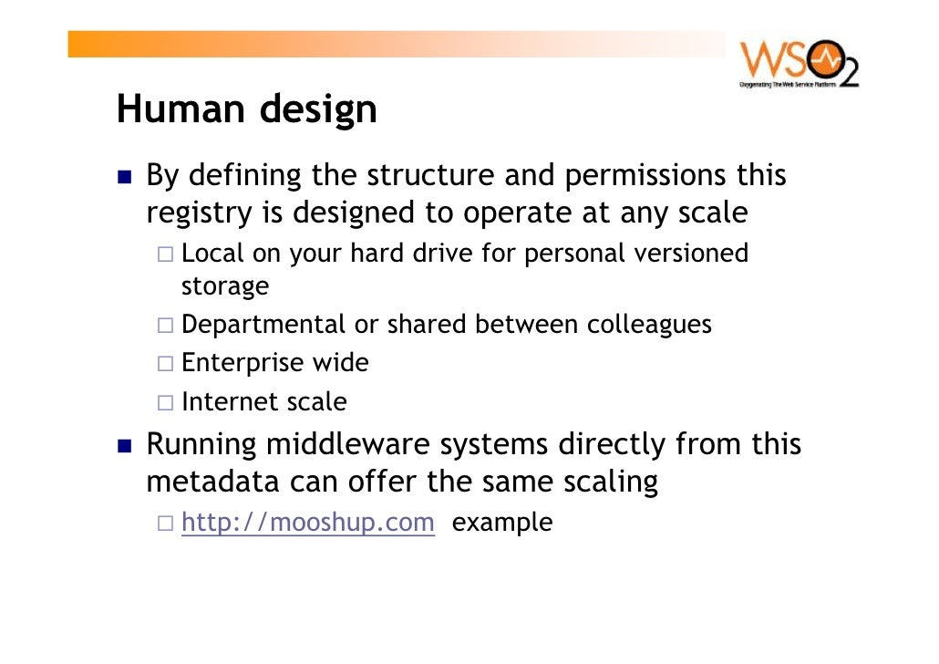 Get involved!  Home page    http://wso2.org/projects/registry/  Mailing List    registry-dev@wso2.org  SVN    https://wso2...
