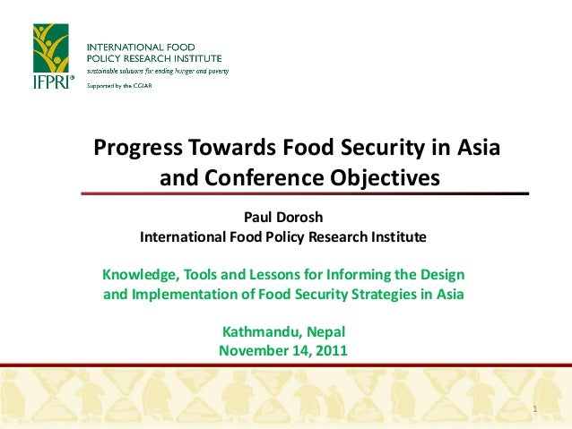 Paul Dorosh International Food Policy Research Institute Knowledge, Tools and Lessons for Informing the Design and Impleme...