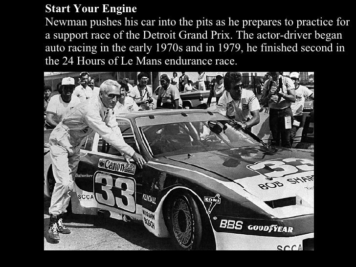 Start Your Engine Newman pushes his car into the pits as he prepares to practice for a support race of the Detroit Grand P...