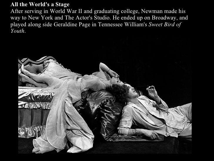 "Paul Newman His Life In Photographs""raindrops keep fallin on my head.""  Slide 2"